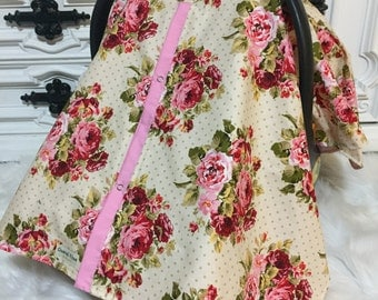 CAR SEAT COVER , carseat canopy , nursing cover , girl , carseat cover , car seat canopy , infant car seat cover , floral , flower