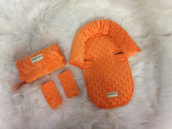 Car seat arm pad / car seat head support / car seat strap covers