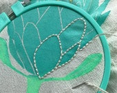 Handprinted Protea Flower Print to Embroider
