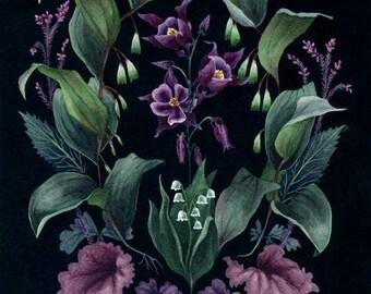 Fine Art Print of Original Watercolor Painting - Garden Mandala (Woodland Layers)