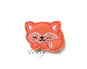 Fox Hair Clip, Sleeping Fox Hair Clip, Orange Fox Hair Clip, Girls Felt Hair Clip, Girls Hair Accessories, Animal Hair Clips, Toddler Clips