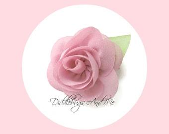 Dusty Mauve Rose Hair Clip, Mauve Rose Hair Clip, Flower Hair Clip, Chiffon Flower Hair Clip, Photo Prop, Flower Girl Hair Clip, Rose Clip