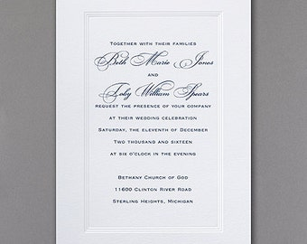 Inexpensive wedding invitation