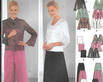 Out of Print Simplicity 5725 Misses Evening Camisole, Tops, Pants and Flared Skirt Pattern (8-14)