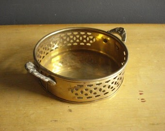 Vintage Brass Tray - Small Punch Out Serving Tray or Dish