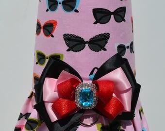 Dog Harness, Sunglasses, Dog Dress, Pet Dress, Small Dog Harness, Harness Vest, Dog Harness for Dogs, Dog Clothes, Pink Dog Harness, Puppy