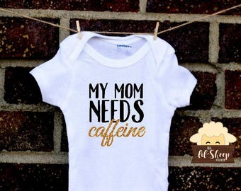 Baby Onesie/Bodysuit/ Baby gift/ Baby shower/Infant/Baby Clothing /JW/Mommy Needs Caffeine/Ministry clothes/ Coming Home Outfit