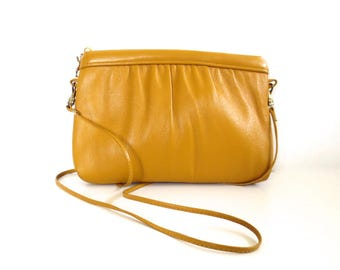 Vintage Ande Mustard Leather Purse/Clutch