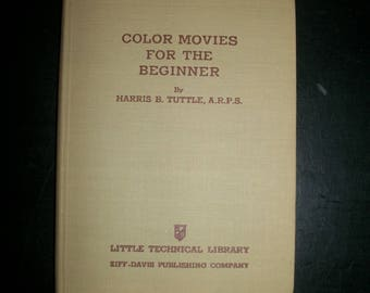 Vintage Book Color Movies for the Beginner 1941