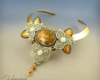 Alena , soutache handmade collar OOAK
