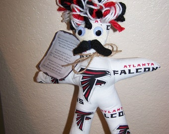 Mens FALCONS  Mustached Dammit Doll For Him Frustration Releaser Therapy Game Day Football Sports Birthday Bachelor Gift Dad Men