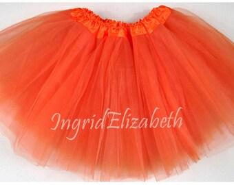 Orange Teen Adult 4 Layer Tutu ... Adult Tutu Costume Color Run Tutu Bachelorette Party