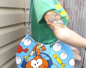 Snorks Round  Shoulder Bag --   Meduim Sized   Hanna Barbera    Vintage 1980s