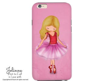 Ballerina Phone Case Cover protective Stylish Design gift Idea for Girls Samsung Galaxy Phone Case Custom Hair Skin Color Artwork Artist