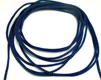 Blue crochet cord, blue crochet yarn, macrame cord, macrame yarn, 100m
