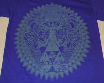 T-Shirt - Fractal of Self (Gray on Purple)