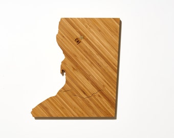DC Shaped Cutting Board / AHeirloom Personalized Cutting Board / Custom Cutting Board / Wedding Gift for Couple