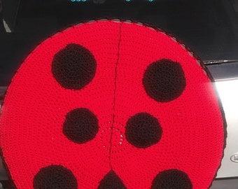 Ladybug Spare Tire Cover Crocheted FREE SHIPPING Perfect for Hummer Jeep Kia Sportage Honda CRV Toyota Rav4 etc