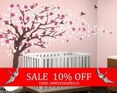 Sale - Vinyl Wall Art Decal Sticker - Cherry Blossom Tree - Elegant Style - LARGE