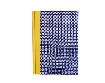 Large Address Book Quatrefoil pattern, blue yellow , A5 Telephone Book