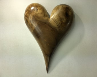 Myrtle wood heart special Christmas present wood carving best gift ever by treewiz
