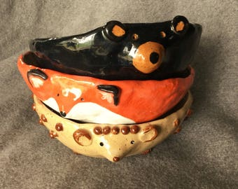 Woodland Critters Bowls