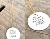 Hand stamped coin necklace