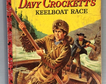 Vintage Little Golden Book features Walt Disney's Davy Crockett