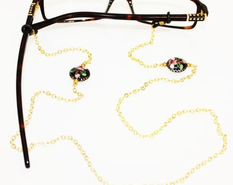Smell the Roses Glasses Chain || Gold