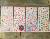 New-Cute sheet of Stickers- Japanese New Year Sakura cherry blossom Stickers for scrapbooking, gift message, Bookmark, Packaging