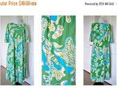 Sale Vintage 70s hippy boho A line dress made by liberty house hawaii- acrylic bark cloth