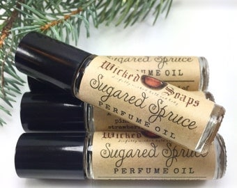 Sugared Spruce Perfume Oil - Roll On Perfume Oil, Roller Perfume Oil
