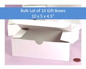 "Bulk Lot of 10 Gift Boxes 10"" x 5"" x 4.5"" for Stemware, Wedding Favors, Groomsmen's Gifts, Glassware Gift Box"