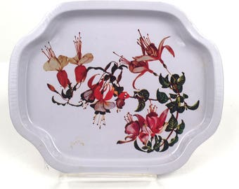 Vintage 1960s 1 Piece Serving Tray Set Made in Hong Kong