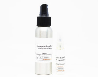 Organic Mosquitoes and Bug Repellent Spray - Mosquito & No Se Um Repellent 100% Natural Ingredients in Spray Bottle 2 Oz and traveler size