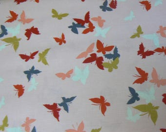 Michael Miller Flutter-by Clouds Cotton Fabric - 1 Yard