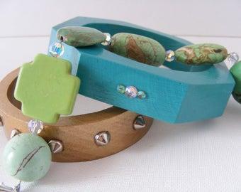 Multi Gem Stone Bracelet