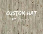 Custom Order for Ann, Shabby Linen & Lace Newsboy Hat