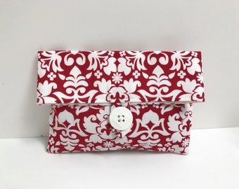 READY TO SHIP - Red Makeup bag