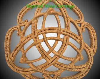 Celtic Peace Knot- Peace and Unity of Heart Mind and Spirit - Wood Carved Celtic Art