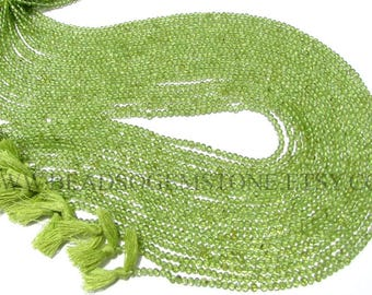 Peridot Smooth Round (Quality A+) / 2.50 to 2.80 mm / 36 cm / PE-046