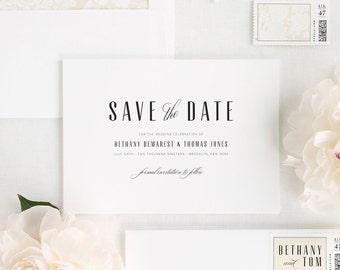 Mid Century Romance Save the Date - Deposit