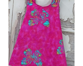 3T Cross Back Apron Top Girls Batik Apron Top Little Girls Pinafore Apron