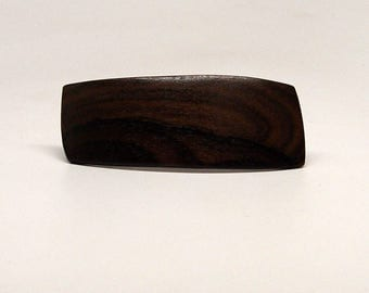 Wooden Hair Barrette, barrette, french clip, ziracote