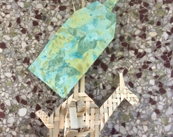 Green, blue, butterfly luggage tag, travel, destination wedding, favors