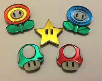 Mario Item Pins