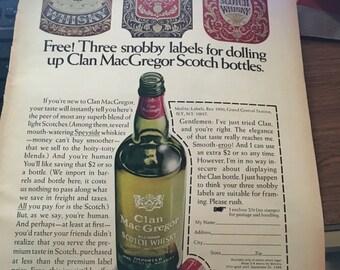 Mcgregor Clan Scotch ad circa 1968