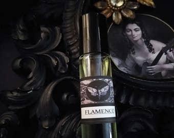 Flamenco  Gypsy Alchemy Perfume Oil  1/3 Roll on Jasmine, Rose Sandalwood Vanilla ,Sweet Orange, Benzoin