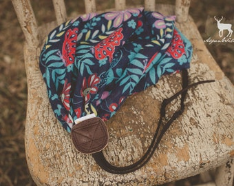 Butterfly Floral Scarf Camera Strap