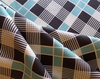 Fabric Yardage - Quilting Weight Cotton - Denyse Schmidt - New Bedford -Strong Plaid - Sea - PWDS098.SEAXX